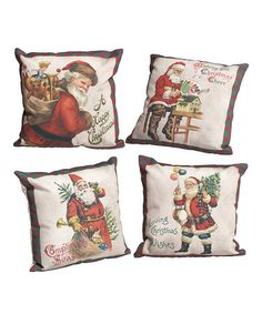 Love this Santa Pillow - Set of Four on #zulily! #zulilyfinds