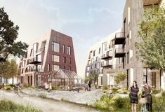 """Møller to design new """"Örnsro Timber Town"""" residential quarters in Örebro C. Møller to design new """"Örnsro Timber Town"""" residential quarters in ÖrebroC. Møller to design new """"Örnsro Timber Town"""" residential quarters in Örebro Architecture Résidentielle, Innovative Architecture, Architecture Visualization, Architecture Graphics, Urban Village, Autocad, Timber Buildings, Photoshop, Design Competitions"""