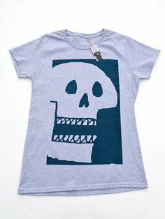 3c55ae337 Premium Womens Skull Tshirt, By Ben Prints On Etsy T Shirts, Printed Shirts,