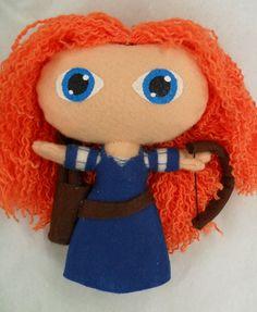 disney felt dolls | Cute felt doll Disney Princess Merida by KurageNeko on Etsy