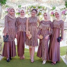 Muslim Style Bridesmaid Dresses,Mismatched Wedding Party on Luulla Kebaya Hijab, Kebaya Dress, Dress Pesta, Kebaya Lace, Kebaya Muslim, Muslimah Wedding Dress, Kebaya Wedding, Hijab Wedding Dresses, Lace Evening Dresses