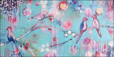 sakura blossoms by Nathalie Vachon (done in Bloom True with Flora Bowley)
