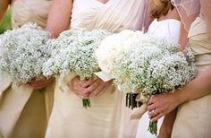Babys breath for bridemaids bouquets