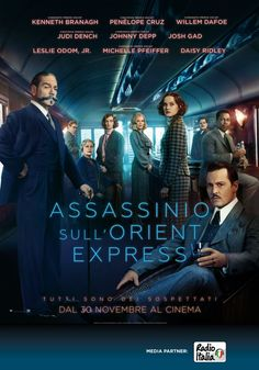 Assassinio sull'Orient Express, scheda del film di Kenneth Branagh con Johnny Depp e Michelle Pfeiffer, leggi la trama e la recensione, guarda il trailer, trova cinema Roma Milano Italia.