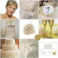 Diamond, Pearl and Gold Wedding Theme