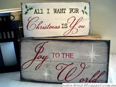Wooden Christmas Sign