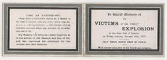 Disaster East End London Silvertown Explosion Home Front Mourning Card 1917 East End London, World War One, Military, Cards, Ebay, World War I, Army, Military Man, Maps