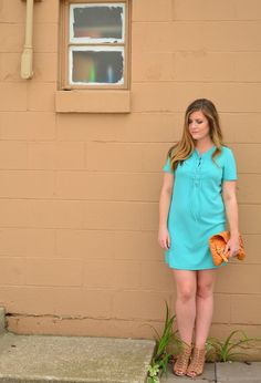 Teal lace up dress for summer