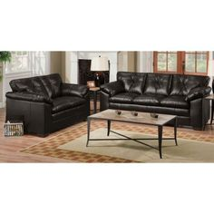 2PC6569BLACKSOLV Black Upholstered 2-Piece Room Group - RC Willey