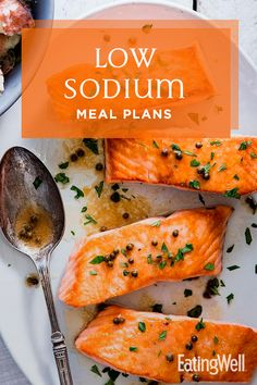 Try our delicious low-sodium meal plans, designed by EatingWell's registered dietitians and food experts to help you eat less salt. Low Salt Recipes, Low Sodium Recipes, Low Salt Meals, Healthy Meals For Two, Heart Healthy Recipes, Healthy Eating, Low Sodium Diet, Low Sodium Meals, Kidney Friendly Foods
