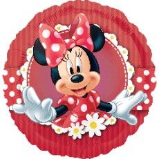 Globo foil redondo de 45 cms de diametro para hinchar con helio, que podeis ver en nuestra tienda http://www.articulos-fiestas-infantiles.es/282-globos-minnie-mouse