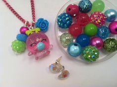 Shopkins Bubbles necklace and bracelet set by BeadedPerfection on Etsy