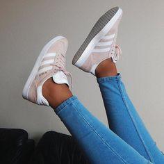 Pink adidas gazelle sneakers