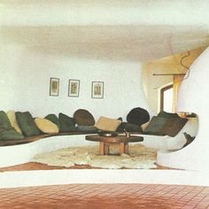 """""""The living room should be a place where we feel totally at ease - temple of the soul."""" - Terence Conran The House Book Vintage Interior Design, Vintage Interiors, Interior Design Inspiration, Design Ideas, Architectural Digest, Interior Architecture, Interior And Exterior, Espace Design, 1970s Decor"""