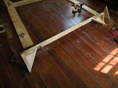 2 X 8 Bed: 5 Steps (with Pictures) Pallet Bed Frames, Pallet Beds, Bed Frame And Headboard, Diy Bed Frame, Dyi Beds, Diy Platform Bed Plans, Making A Bed Frame, Design Studio Office, Wooden Pallet Furniture