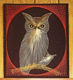 String Art Owl. #owls