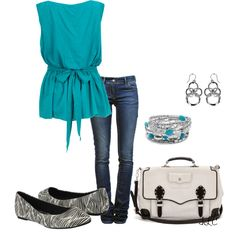 """""""Black, White & Turquoise"""" by happygirljlc on Polyvore"""