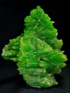 Pyromorphite. China. Lead Phosphorus: Secondary mineral found in the oxidized zones of lead ore deposits.