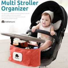 Baby Strollers Accessories Baby Carriage Pram Cart Bottle Diaper Bag Newborn Nappy Bag Stroller Cartoon Baby Stroller Organizer #Affiliate