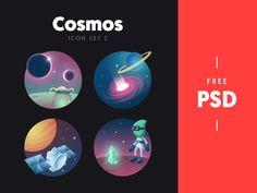 Cosmos - free icon set 2 by Kreativa Studio