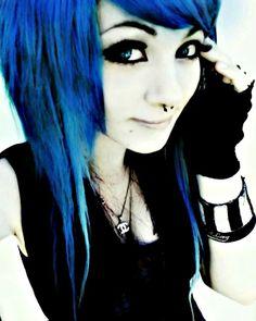 I love it this emo girl looks great with blue hair dye 플러스바카라 ♥♥ WWW.SCV34。COM ♥♥ (플러스바카라) 플러스바카라  플러스바카라