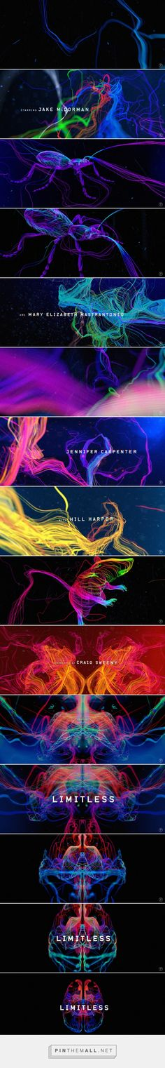 Opening sequence for Limitless TV Series. Made at Prologue. Creative Directors: Kyle Cooper, Lisa Bolan Designer, Art director: Olga Midlenko... - a grouped images picture - Pin Them All