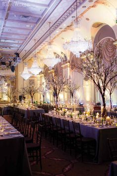 Enchanted gold and green wedding centrepieces, flowers, candles and decor for a gay wedding! ENCHANTED GARDEN WEDDING AT THE CHÂTEAU FRONTENAC www.elegantwedding.ca