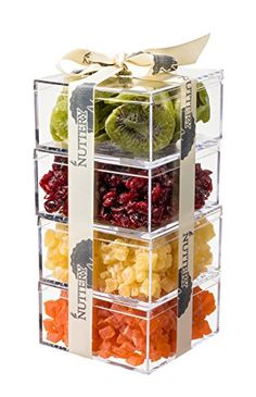 The Nuttery Premium Dried Fruit Gourmet Gift Tower ~ Kiwi ~ Cranberry ~ Pineapple ~ Papaya ~ by The Nuttery NY? Dessert Packaging, Bakery Packaging, Cookie Packaging, Food Packaging Design, Box Packaging, Dry Fruit Box, Dried Fruit, Fruit Gifts, Food Gifts