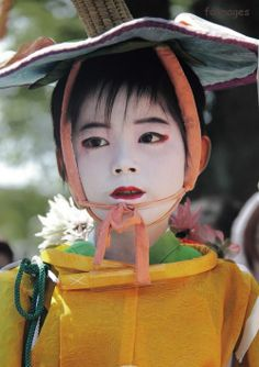 Child participant in the Gion Festival in Kyoto, Japan. Image via Pinterest