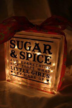 little girls, baby shower gifts for girl, night lights, spice, girl baby shower gifts, glass block, babi girl, baby gifts for girls, baby girl shower gift