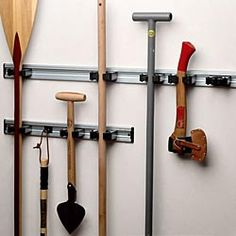 Keep Garden Tools Organized In The Garage Or Shed By Hanging Them With This  Organizer.