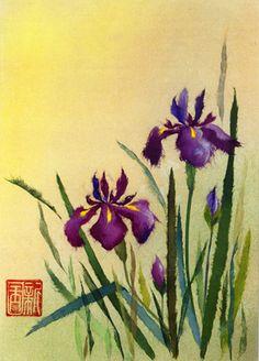 Japanese Iris     http://www.washi-art.net/images/art/20A.jpg