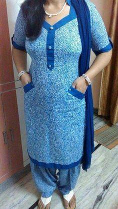 Punjabi suit with pockets  ossm@SRandhawa