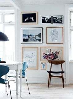cocolapinedesign.com SMALL GALLERY WALL- a gallery wall also works well with small wall or space between two doors or windows.