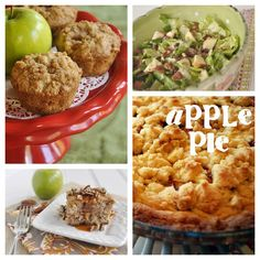 If you love apples...here are some yummy apple recipes!!  Apple Strudel Muffins  -  Autumn Apple Salad  -  Apple Cake with Caramel Sauce  -  Easy Apple Pie  #applerecipes