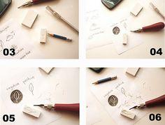 hand carved stamps tutorial - geninne's art blog