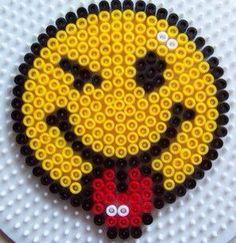 Set of 4 Perler bead smily coasters. on Etsy, $12.00