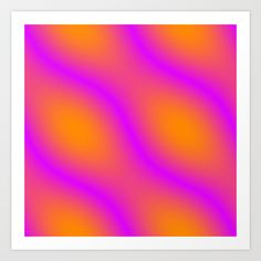 Orange and Pink Abstract Art Print by Cassie Peters - $14.00