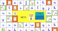 EL juego de la oca para trabajar las cononantes en minuscula Scrabble, Games, Patio, Shape, Educational Games, Educational Activities, Teaching Letters, Learning To Write, Gaming