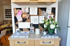 Organize notes, pictures, and business cards on a stylish bulletin board! #dormify #corkboard