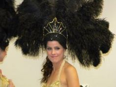 How to make a showgirl costume from headdress to covering bra and tail fan