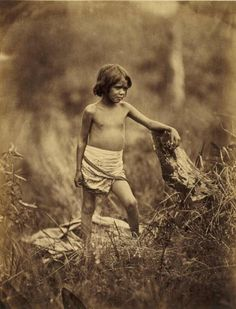 Richard Daintree 1832-1878, photographer. Portrait of an Aboriginal child Date [ca. 1858] photograph : albumen silver