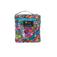 Ju-Ju-Be x tokidoki Fuel Cell in Kaiju City! Jujube Tokidoki, Lily Jade, Navy Background, Cute Plush, Bottle Bag, Consumer Products, Breast Cancer Awareness, Diaper Bag, Accessories
