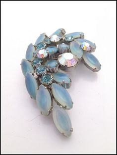 Blue lagoon 1950's Brooche by Hollywoodvintagecoll on Etsy, $60.00