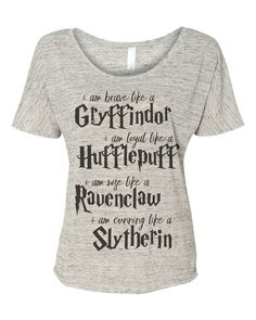Harry Potter i am like house traits - Ladies Flowy Simple Tee