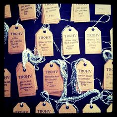 Tags designed for Trohv - photo by Carmen Brock #tags #kraftpaper