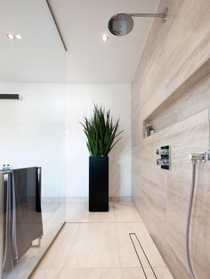 UniSlope I Highline Custom Kitchen Family Rooms, Architect House, Wet Rooms, Concrete Floors, Beautiful Bathrooms, Home Builders, Master Bathroom, My House, House Plans