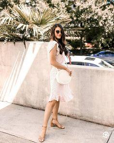 white midi dress and round bag | Spring Style | Spring Fashion | Women's Style | Style Inspiration | Spring Trends | Fashion Inspiration | OOTD | Outfit Inspiration | Blogger Style | Summer Trends | Summer Style | Summer Fashion
