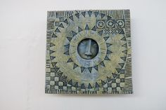 Neil MacDonell - Square window with stars Dimensions: Height:12cm