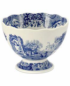 Spode Dinnerware, Blue Italian Footed Bowl - Macy's
